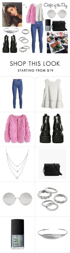 """""""Outfit Of The Day !"""" by milena-serranista ❤ liked on Polyvore featuring H&M, Chicwish, Jeffrey Campbell, Athra Luxe, Petit Bateau, Linda Farrow, Apt. 9, NARS Cosmetics, Nadine S and Forever 21"""