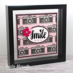 The best things in life are Pink.: Love From Lizi - May 2019 kit - Camera paper too cute to cut Card Kit, I Card, Pink Camera, Camera Cards, Pinstriping Designs, Stamp Pad, Finding Joy, Pattern Paper, Altered Art