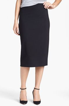 Vince Camuto Vince Camuto Ponte Midi Skirt (Online Only) available at #Nordstrom