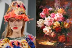 Match #317 Details at Chanel Haute Couture Spring 2015 | Flowers by Vivid Gallery More matches here
