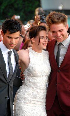 Red carpet - Taylor Lautner, Kristen Stewart, and Rob Pattinson