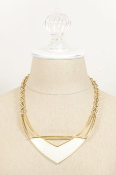 Vintage Monet Bold V Bar Necklace