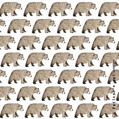 walking bears pattern a-pattern-a-day.tumblr.com