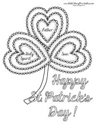 St. Patrick's Day Bible Coloring Page