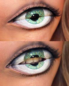 Lips painted to look like an eye - Imgur - wow!!