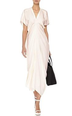 Draped Stretch-Crepe Jersey Dress by Rick Owens Now Available on Moda Operandi