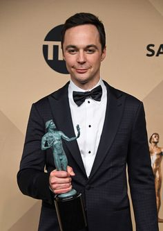 Jim Parsons Photos Photos - Actor Jim Parsons, co-recipient of the Outstanding Performance by a Cast in a Motion Picture award for 'Hidden Figures,' poses in the press room during The 23rd Annual Screen Actors Guild Awards at The Shrine Auditorium on January 29, 2017 in Los Angeles, California. 26592_008 - The 23rd Annual Screen Actors Guild Awards - Press Room