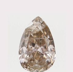 0.14 Ct Natural Loose Diamond Cut Pear Shape Brown Color