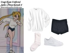 Nike Sweet classic leather Nordstrom Butter socks Les Pomettes Hache Light linen shorts Hanes white ultimate cotton sweatshirt Odango buns hair tutorial: http://www.youtube.com/watch?v=TWWuPYdLr14feature=related