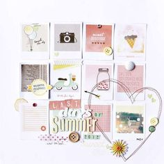 Last Days of Summer 2012 - by Corrie Jones using the Dear Lizzy Neapolitan collection from American Crafts. #scrapbooking #dearlizzy #summer