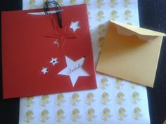 Sobre estrella de cumpleaños + estampa + sobre + stickers