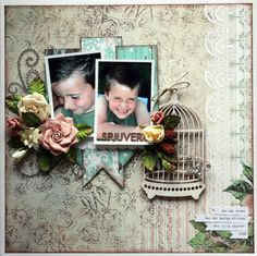 Spjuver - Scrapbook.com ...created by CamillaE (18-Mar-12) Wendy Schultz onto Scrapbook Layout's.