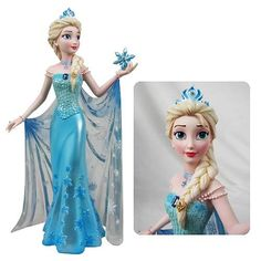 A Disney find is always an exciting event, but an artistic Disney find is even more exciting! With Jim Shore Traditions, Britto and Enesco figures, it's hard to disappoint! Frozen Birthday Theme, Frozen Theme, Frozen Party, Frozen Cake, Frozen Elsa And Anna, Disney Frozen Elsa, Disney Pixar, Disney Couture, Disney Figurines