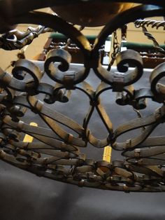 Spanish Revival Wrought Iron 6-Sconce Circular Chandelier Sold L420 | Early California Antiques