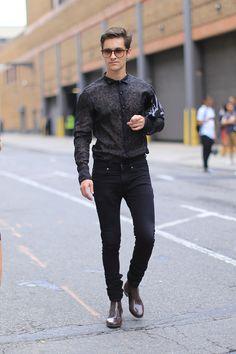 Street shots: New York Fashion Week winter 2016. Male Fashion