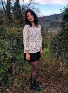 woman handmade lace blouse