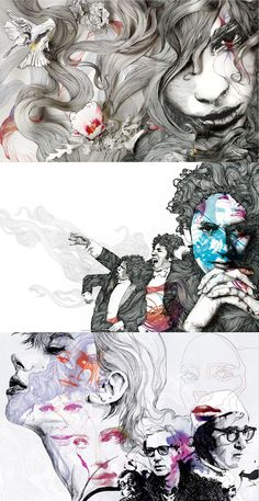 Gabriel Moreno Creative Portraits, Creative Art, Art Sketches, Art Drawings, Inktober, Murals Street Art, Social Art, Bd Comics, Sketchbook Inspiration