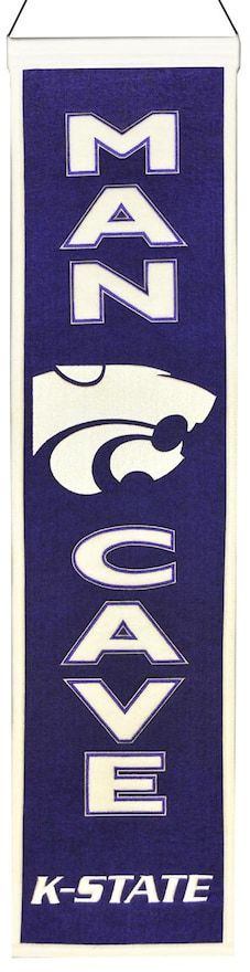 $45 - NCAA Kansas State Wildcats Man Cave Banner - Hanging cord 32 x 8 Wool blend felt Imported Size: One Size. Color: Multicolor. Gender: Male.
