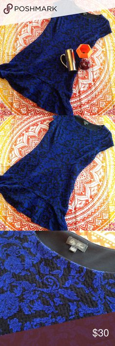 Beautiful EUC blue and black floral dress Beautiful black and blue floral print dress in used excellent condition. It has only been worn twice but is sadly not my size. Lily Rose Dresses