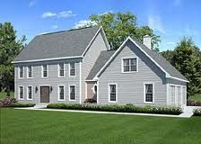 colonial double story house plans - Google Search
