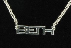 Beth Silver Tone Name Pendant Necklace Jewelry by KensieKitsch, $8.95