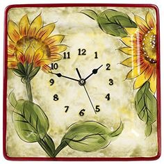 Creative Motion Sunflower Wall Clock | Kitchen | Pinterest | Sunflowers,  Wall Clocks And Clocks