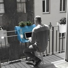 The Hook-On Balcony Desk | 33 Insanely Clever Things Your Small Apartment Needs
