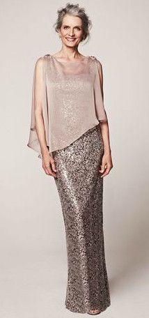 Sleeveless Sequin Lace Dress With Caplet Style 3112db Davidsbridal Motherofthebride Mother Of The Bride Groom Pinterest Dresses