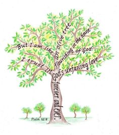"""""""But I Am Like an Olive Tree Flourishing In The House of God. I Trust In God's Unfailing Love Forever and Ever."""" Psalm 52:8 -"""
