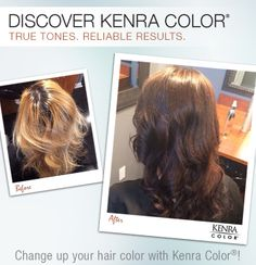 Filled with Kenra Color® Copper Pre-Pigment, then 5N+5B color theori, kenra color