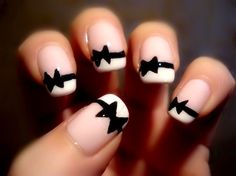 black tie party nails | See more at http://www.nailsss.com/colorful-nail-designs/2/