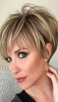 Women's Short Human Hair Wigs Short Straight Lace Front Wigs - hair cuts and colors - Cheveux Short Hairstyles For Thick Hair, Short Straight Hair, Short Pixie Haircuts, Pixie Hairstyles, Curly Hair Styles, Summer Haircuts, Anime Hairstyles, Stylish Hairstyles, Hairstyles Videos