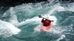 kayak boat extreme sport river rapids danger fun excitement recreation paddle…