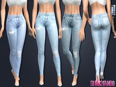 .:108 - Skinny jeans:.  Found in TSR Category 'Sims 4 Female Everyday'
