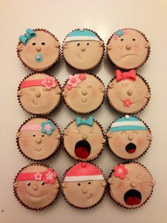More baby face cupcakes!