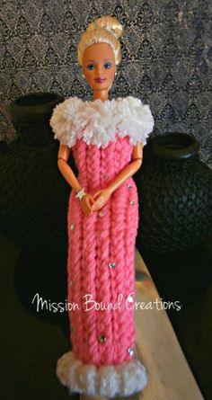 Loom Knit a Doll Dress in Pink
