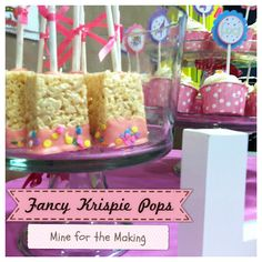 Festive presentation for Rice Krispy pops~ I made these years ago for a bake sale at church in the fall.