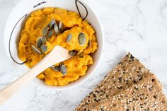 This spread is so delicious!  http://www.bringinghappiness.nl/pompoenhummus/