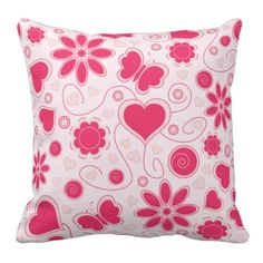A Little Girly Pillow. A fun addition for any young girls bedroom.