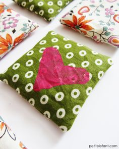 DIY hand warmers Valentine heart(s) - A perfect Valentine's Day craft that will last all winter.