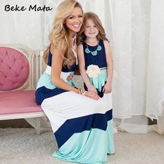 Matching Mother Daughter Clothes 2016 Summer Striped Mother Daughter Dresses Fashion Cotton Family Clothes Women Long Plus Dress♦️ SMS - F A S H I O N 💢👉🏿 http://www.sms.hr/products/matching-mother-daughter-clothes-2016-summer-striped-mother-daughter-dresses-fashion-cotton-family-clothes-women-long-plus-dress/ US $9.44