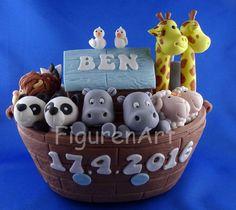 """Torten - Tortendekoration """"Arche Noah"""" , Cake Topper - ein Designerstück von figurenart bei DaWanda"""