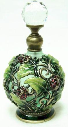 Ladybug perfume bottle.