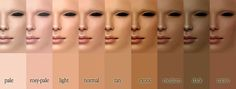 Best Ideas For Skin Color Chart Anime Cool Skin Tone, Good Skin, The Sims, Sims 2, Skin Color Chart, Color Charts, Skin Undertones, Different Skin Tones, Olive Skin