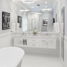 Another amazing install from @dmdlifeinpix Thomas wall mount design in White. Did you know that all of our Transitional designs are available as wall mounts straight out of the book #morechoices #wallmount #floatingvanity #mirroredfurniture #madetoorder