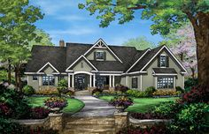Front Rendering of The Travis - House Plan Number 1350