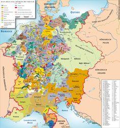 Священная Римская империя (962-1806) Римская империя это межгосударственное образование, просуществовавшее в Европе с 962 по 1806 годы. Ядром империи являлась Германия, к которой в период наивысшего расцвета государства присоединялись Чехия, Италия, Нидерланды, а также некоторые регионы Франции.В XVII столетии на ведущие позиции в Священной Римской империи выдвинулись Австрия и Пруссия.Конец империи в 1806 году положила крепнущая Франция во главе с Наполеоном.