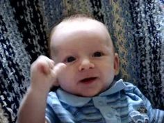 Amazing 8 week old baby's first words- its real!!!!!!!! The absolute most adorable baby EVER