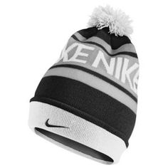 Nike POM BEANIE - Men's - Black/White/Wolf Grey at EastBay.com