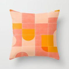 Retro Tiles 03 Throw Pillow by designdn Throw Cushions, Couch Pillows, Designer Throw Pillows, Down Pillows, Accent Pillows, Midcentury Quilts, Pillows Online, Fluffy Pillows, Dorm Decorations